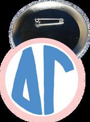 Delta Gamma Monogram Pink Button