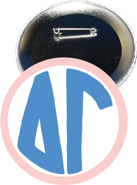 Delta Gamma Monogram Pink Button