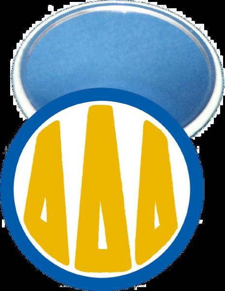 Delta Delta Delta Monogram Blue Mirror