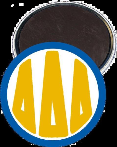 Delta Delta Delta Monogram Blue Magnet