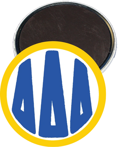 Delta Delta Delta Monogram Yellow Magnet
