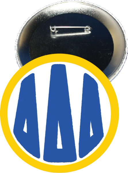 Delta Delta Delta Monogram Yellow Button