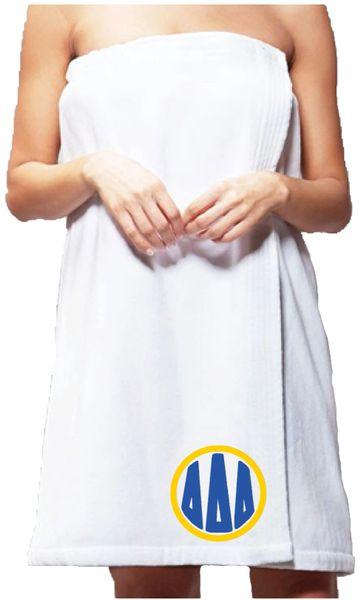 Delta Delta Delta Monogram Towel Wrap