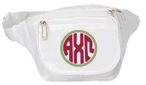 Alpha Chi Omega Monogram Fanny Pack