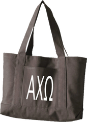 Alpha Chi Omega Letters Canvas Tote Bag