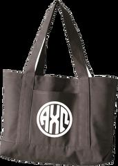 Alpha Chi Omega Monogram Canvas Tote Bag