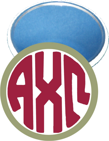 Alpha Chi Omega Monogram Green Mirror