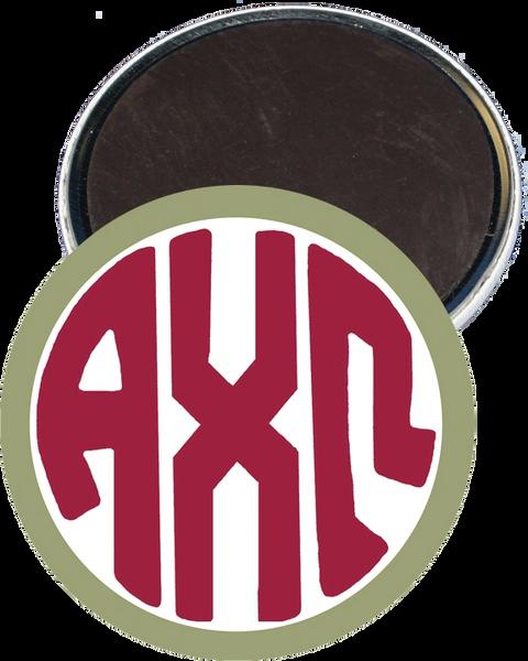 Alpha Chi Omega Monogram Green Magnet