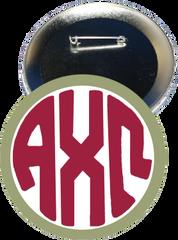 Alpha Chi Omega Monogram Green Button