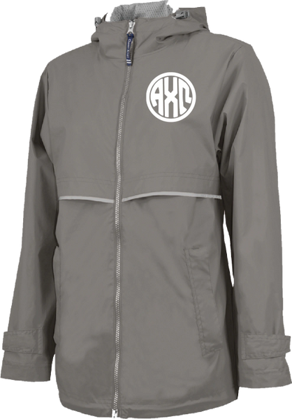 Alpha Chi Omega Monogram Rain Jacket