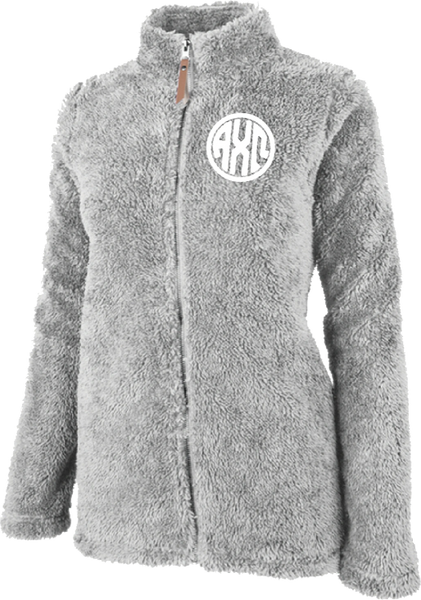 Alpha Chi Omega Fluffy Fleece Jacket
