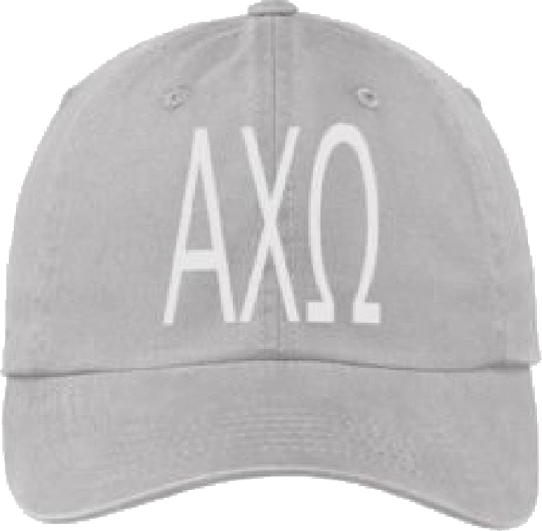Alpha Chi Omega Gray Ball Cap