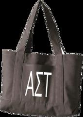 Alpha Sigma Tau Letters Canvas Tote Bag