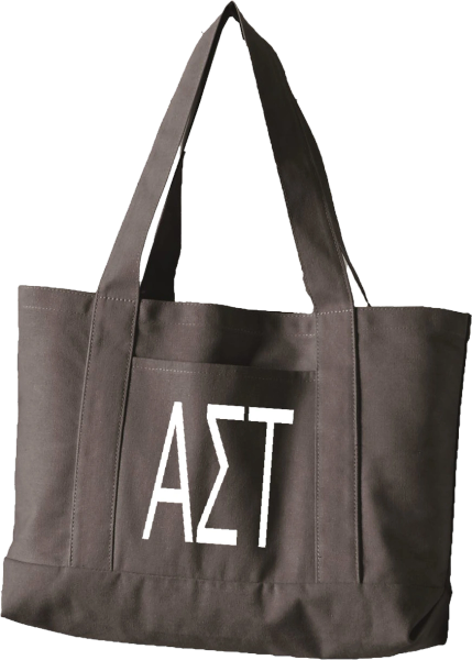 Alpha Sigma Tau Letters Canvas Tote Bag