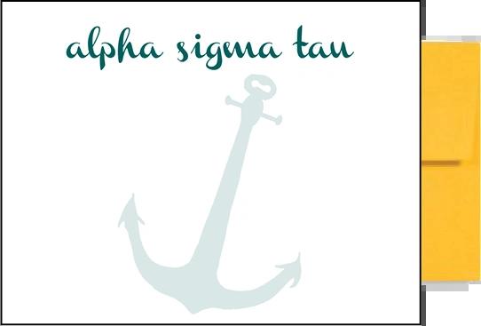 Alpha Sigma Tau Background Postcards