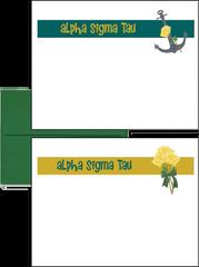 Alpha Sigma Tau Logo Postcards
