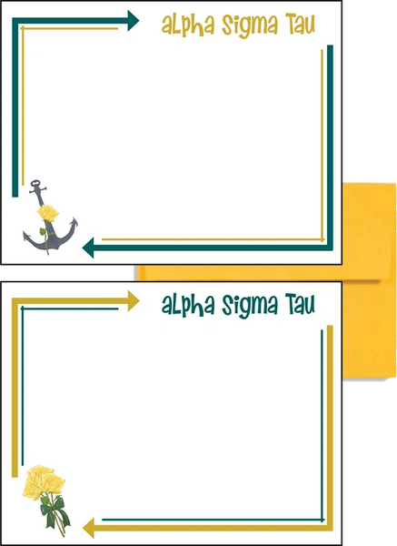 Alpha Sigma Tau Arrow Postcards