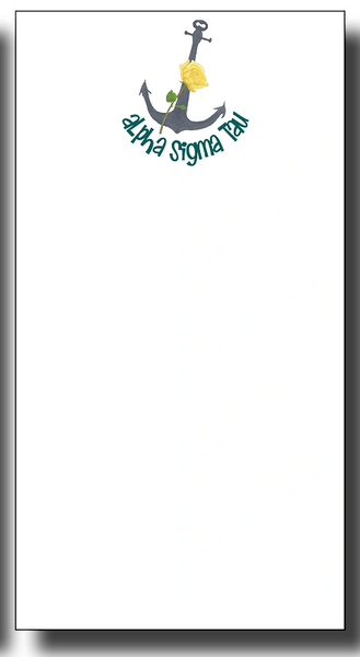 Alpha Sigma Tau Notepad - Skinny