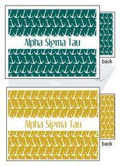 Alpha Sigma Tau Sorority Notecards
