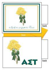 Alpha Sigma Tau Flower Notecards