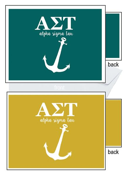 Alpha Sigma Tau Letter Notecards