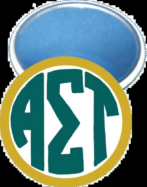 Alpha Sigma Tau Monogram Yellow Mirror