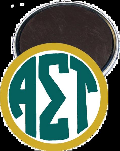 Alpha Sigma Tau Monogram Yellow Magnet
