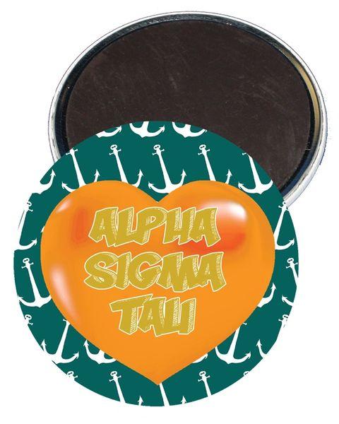 Alpha Sigma Tau Heart Magnet