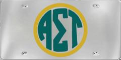 Alpha Sigma Tau Aluminum Monogram License Plate