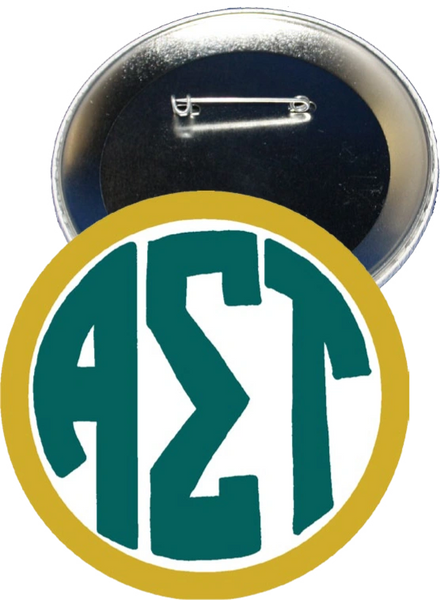 Alpha Sigma Tau Monogram Yellow Button