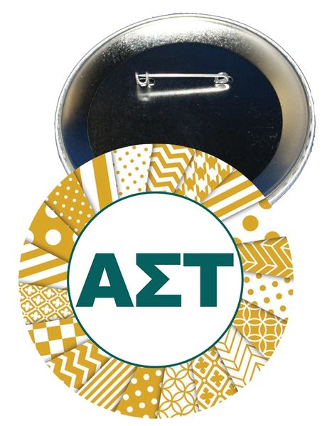 Alpha Sigma Tau Letters Button