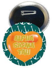 Alpha Sigma Tau Heart Button
