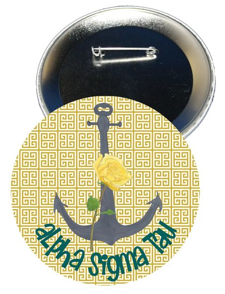 Alpha Sigma Tau Logo Button