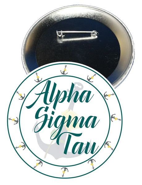 Alpha Sigma Tau Sorority Button