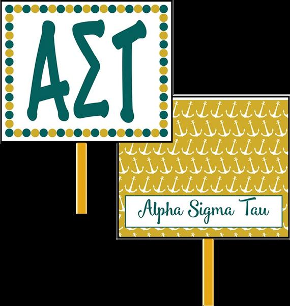 Alpha Sigma Tau Logo Hand Fan