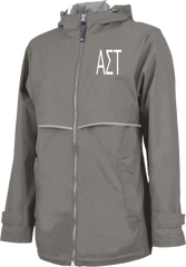 Alpha Sigma Tau Letters Rain Jacket