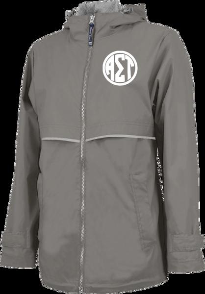 Alpha Sigma Tau Monogram Rain Jacket