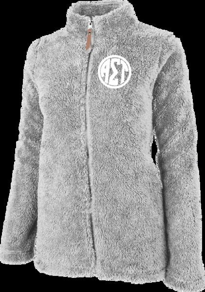 Alpha Sigma Tau Fluffy Fleece Jacket