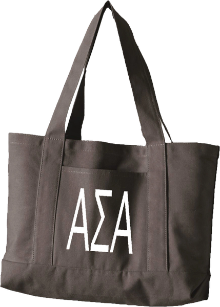 Alpha Sigma Alpha Letters Canvas Tote Bag