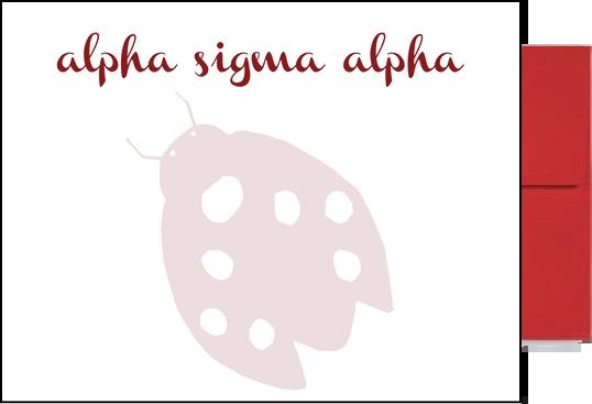 Alpha Sigma Alpha Background Postcards