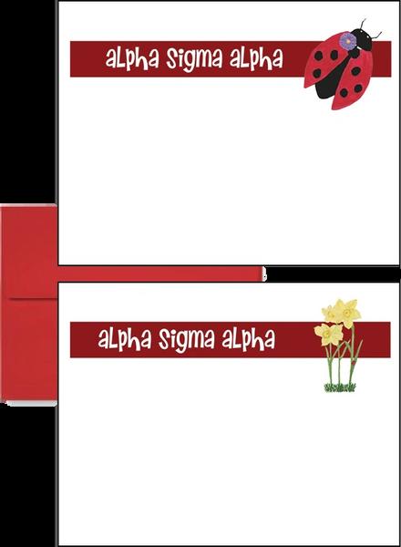 Alpha Sigma Alpha Logo Postcards