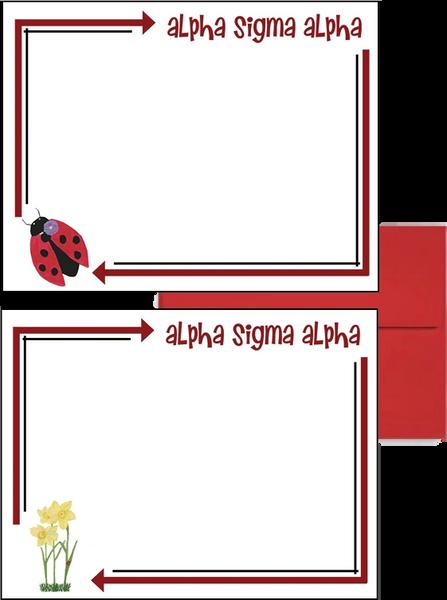 Alpha Sigma Alpha Arrow Postcards