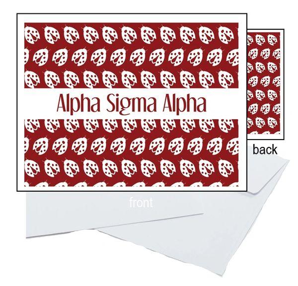 Alpha Sigma Alpha Sorority Notecards
