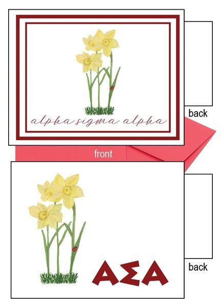 Alpha Sigma Alpha Flower Notecards