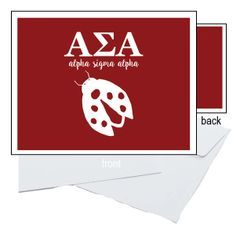 Alpha Sigma Alpha Letter Notecards