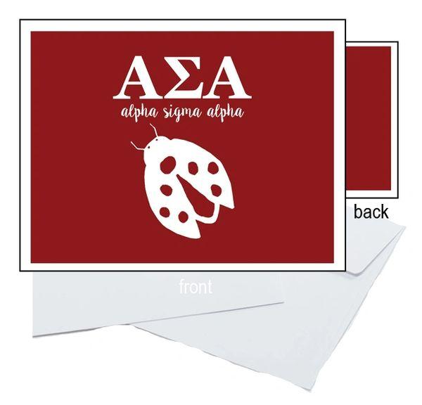 Alpha Sigma Alpha Letter Notecards