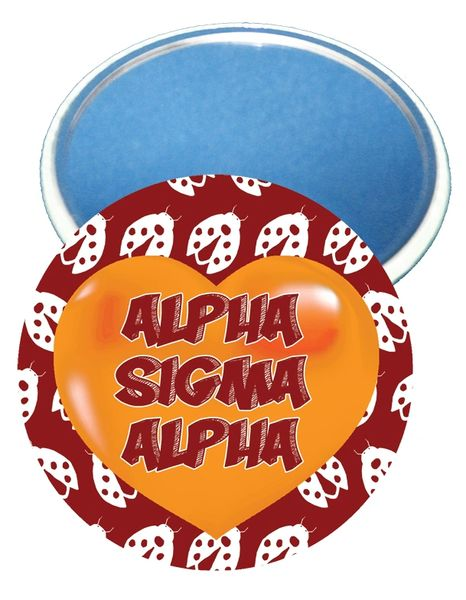 Alpha Sigma Alpha Heart Mirror