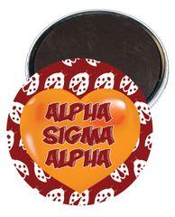Alpha Sigma Alpha Heart Magnet
