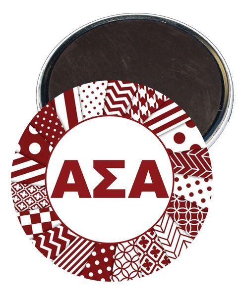 Alpha Sigma Alpha Letters Magnet