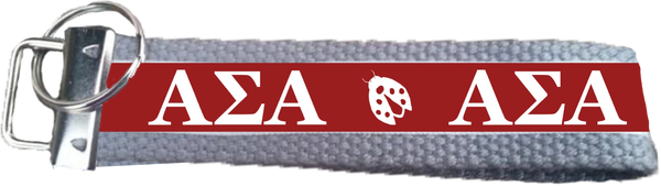 Alpha Sigma Alpha Logo Key Fob
